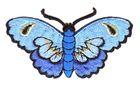 Applikation Patch Sticker Schmetterlinge Farbe: Blau 8,5x5cm