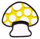Applikation Patch Scrap-Tex Pilz 6,7 x 6,5cm Farbe: Gelb