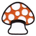 Applikation Patch Scrap-Tex Pilz 6,7 x 6,5cm Farbe: Orange