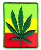 Applikation Patch Sticker Cannabis 5x8cm