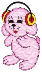Applikation Hund 12 x 22cm Farbe: Rosa VOR50-3