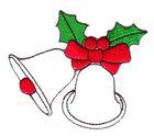 Applikation Weihnachtsglocken 7,5 x 7 cm VOR51-20