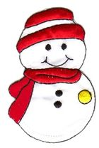 Applikation Patch Sticker Schneemann 5,5 x 8cm