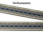 22m Retro-Borte Webband 12mm breit Farbe: Dunkelblau-Beige