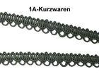 10m Corsageborte 13mm breit Farbe: Schwarz