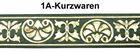 10m Mittelalter Borte Webband 35mm breit Farbe: Moosgrün-Gold
