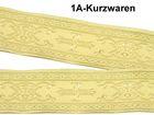 10m Kreuz-Borte Webband 50mm breit Farbe: Beige