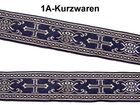 10m Kreuz-Borte Webband 50mm breit Farbe: Gold-Dunkelblau