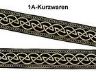 10m Keltischer Knoten weit Webband Borte 33mm breit Farbe: Schwarz-Gold