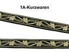 10m Borte Webband Wickinger 22mm breit Farbe: Schwarz-Gold