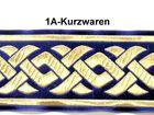 10m Mittelalter Borte Webband 50mm breit Farbe: Dunkelblau-Gold