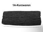 32m Litze 2mm breit Farbe: Schwarz AA520-180