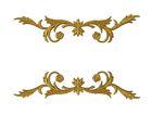 1 Paar historische Applikationen höhere Qualität Farbe: Lurex-Gold