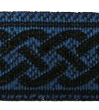 10m Retro-Borte Webband 18mm Farbe: Blau-Schwarz