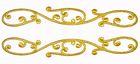 1 Paar Applikationen Farbe: Gold 20 x 3cm höhere Qualität