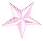 Nautik Star Stern Farbe: Weiss-Rosa Durchmesser 9cm