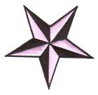 Nautik Star Stern Farbe: Schwarz-Rosa Durchmesser 9cm