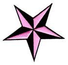 Nautik Star Stern Farbe: Schwarz-Pink Durchmesser 9cm