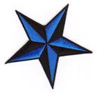 Nautik Star Stern Farbe: Schwarz-Blau Durchmesser 9cm