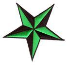 Nautik Star Stern Farbe: Schwarz-Grün Durchmesser 9cm
