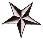 Nautik Star Stern Ø 9cm Farbe: Schwarz-Silber