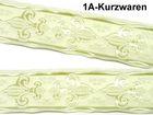 10m Französische Lilie Borte Fleur de Lis Webband 35mm breit Farbe: Creme