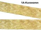 10m Französische Lilie Borte Fleur de Lis Webband 16mm Farbe: Lurex-Gold