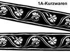 10m Mittelalter Borte Webband 50mm breit Farbe: schwarz/Silber