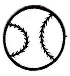1 Applikation Baseball Durchmesser 4,5 cm VOR60-3