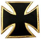 1 Applikationen Tribal Kreuz Farbe: Schwarz-Gold 17,8 x 17,2cm