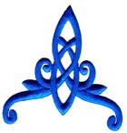 Applikation Patch Tribal 8 x 8,5cm Farbe: Blau
