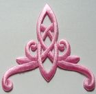 Applikation Patch Tribal 8 x 8,5cm Farbe: Rosa