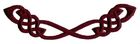 Applikation Patch Tribal 13,5 x 3,5cm Farbe: Bordeaux