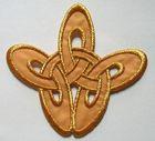 Applikation Patch Tribal 8,5 x 8cm Farbe: Lurex-Gold