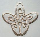 Applikation Patch Tribal 8,5 x 8cm Farbe: Lurex-Silber