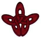 Applikation Patch Tribal 8,5 x 8cm Farbe: Bordeaux