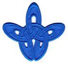 Applikation Patch Tribal 8,5 x 8cm Farbe: Blau