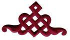 Applikation Patch Tribal 9 x 5cm Farbe: Bordeaux