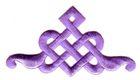 Applikation Patch Tribal 9 x 5cm Farbe: Flieder