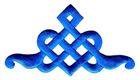 Applikation Patch Tribal 9 x 5cm Farbe: Blau
