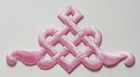 Applikation Patch Tribal 9 x 5cm Farbe: Rosa