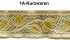 10m Brokat Borte Webband 22mm breit Farbe: Lurex-Gold