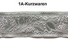 10m Brokat Borte Webband 22mm breit Farbe: Lurex-Silber