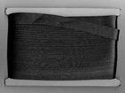 32m Satinschrägband 15mm breit 3-fach gefalzt Farbe: Schwarz