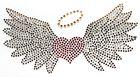 Bügelbild Herz mit Flügel 16,5 x 9cm