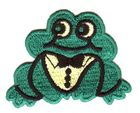 Applikation Patch Rockabilly Frosch 6x4,5cm