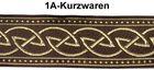 10m Keltischer Knoten weit 33mm breit Farbe: Braun-Gold