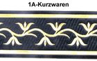 1m Mittelalter Borte Webband 70mm Farbe: Dunkelblau-Gold