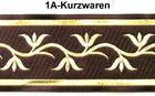 1m Mittelalter Borte Webband 70mm Farbe: Braun-Gold