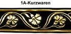 10m Mittelalter Borte Webband 35mm breit Farbe: Schwarz-Gold